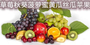 草莓秋葵菠萝蜜黄瓜丝瓜苹果