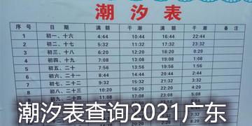 潮汐表查询2021广东